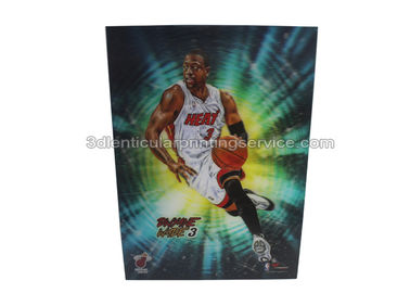 China Custom 3d Lenticular Postcards Printing Basketball Players Image supplier