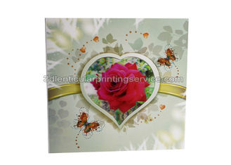 China Customised Valentine'S Day Greeting 3d Lenticular Card Offset Printing In PP Plastic supplier