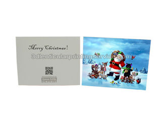 China Merry Christmas Custom Lenticular Printing Greeting Card With Santa Claus 3D Effect supplier