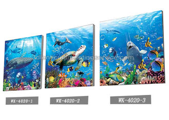 China Sea World Pictures Lenticular Printing Services 3D Picture House Decoration supplier