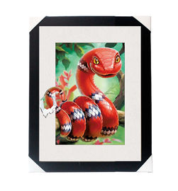 China Amazing 5D 30*40CM Lenticular Picture With PS Frame / 3D Animal Images supplier