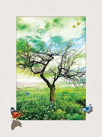 China Four Season Tree 5d Lenticular Pictures 0.6mm Pet 30*40cm Painting Poster supplier