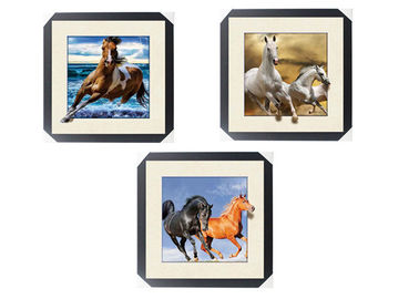 China Office / Hotel Decoration Animal Picture 5d Lenticular Picture With Frame supplier