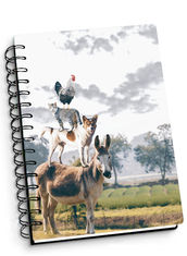 China Depth Effect A4 A5 A6 3D Lenticular Notebook For Student Stationery Eco-friendly supplier