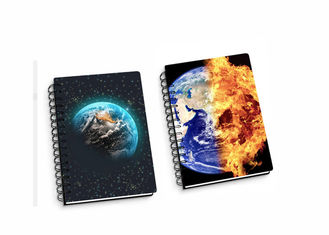 China Lenticular PP / PET 45 Sheets 3D Flip Notebook A4 / A5 / A6 Size Plastic Hard Cover supplier