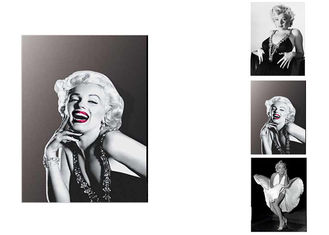 China Charming Star Marilyn Monroe poster Lenticular Flip With 3 Changing Images For Art Decoration supplier