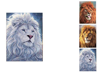 China PET / PP Wild Animal Lenticular Flip Effect / 3D Lenticular Printing Services supplier