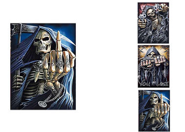 China 3 Different Images Of Grim Ripper  Lenticular Flip With 30x40cm For House Decoration supplier