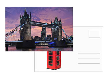 China Tourist Souvenir 3D Lenticular Postcard London Landscape 5x7 Inches supplier
