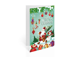 China Christmas Design Lenticular Gift Cards 3D Effect Customised 12x17cm Fold supplier