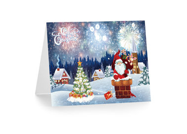 China 3D 12x17cm Greeting Card Lenticular Printing Services  With Customized X-mas Images supplier