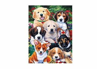 China Dogs Animal 3D Lenticular Poster For Hotel Decoration With 40x40cm Size supplier