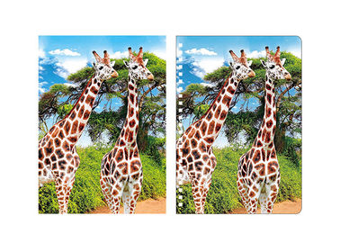 China Giraffe Animal Custom 3D Lenticular Notebook For School Stationery Set supplier