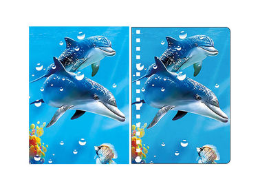 China Penguin & Dolphin Image A6 3D Lenticular Cover 0.45 - 0.6mm Thickness supplier