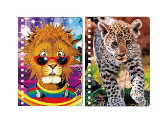 China Promotion 0.6mm PET Lenticular Animal Notebook Covers With 3D Deep Effect supplier
