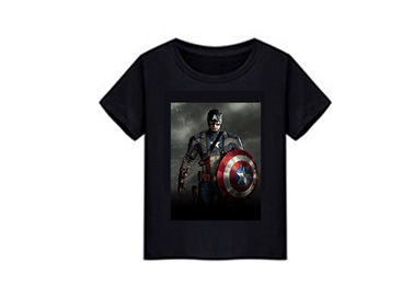 China SGS 3D Lenticular Printing Service PVC Super Hero For T - Shirt Fabric supplier