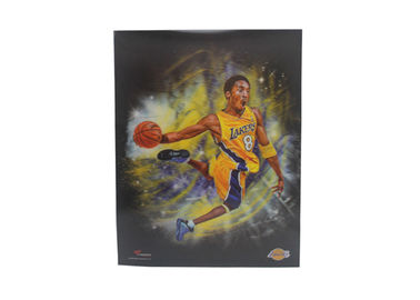 China Decration Plastic Printing Service 3D Lenticular Poster Large Size Wall Sport Poster supplier