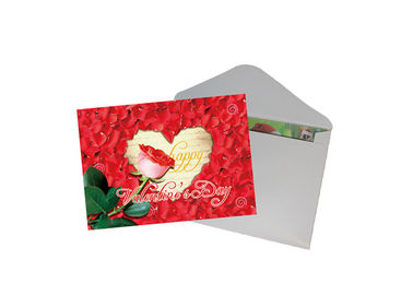 China Valentine'S Day Lenticular Gift Cards / 3d PET Lenticular Greeting Cards supplier