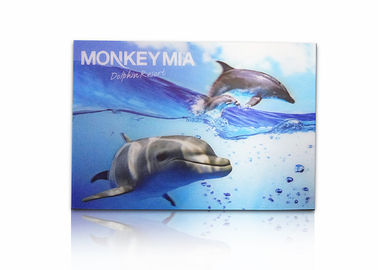 China Animal 3d Lenticular Postcards / Custom Lenticular Cards Tear - Proof supplier