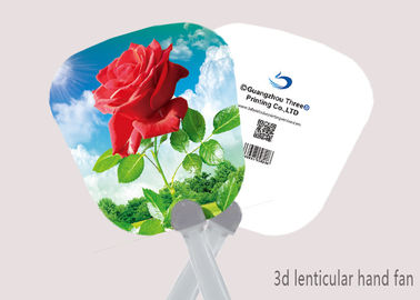 China Celebrity Custom 3D Lenticular Printing Hand Fan 0.6mm PET + Paper supplier