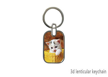 China Cute Animal Design 3D Lenticular Printing Service  / 3D Lenticular Keychain supplier