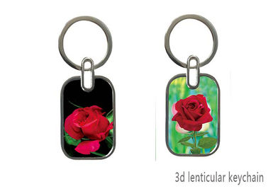 China 3D Lenticular Image PET Personalised Photo Keyrings For Promotional Gift supplier