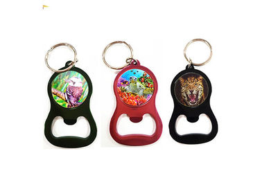 China Custom Printing Services 3D Lenticular Keyring 3D Bottle Opener For Promotion supplier