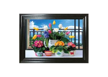 China Water - Proof Flower Home Decor Picture 3D Lenticular Photography supplier