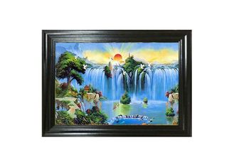 China Oil Painting Design 3D Lenticular Pictures 0.6mm PET Material 40x60cm Size supplier