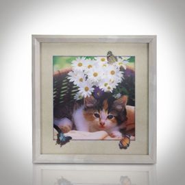 China CMYK 3D Lenticular Pictures With MDF Frame Cat Design Decorative Printing supplier