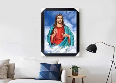China Jesus Design God 3D Lenticular Flip Effect With CMYK Printing Size 30*40cm supplier
