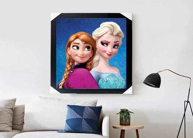 China Carton Girl Design 3D Lenticular Pictures Make Ice On Colors 40*40CM Size supplier