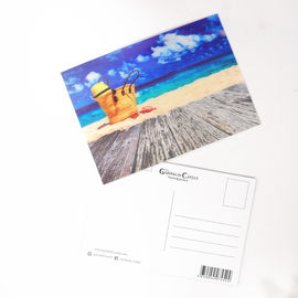 China PET Seascape Pantone Color 3D Lenticular Printing Postcards For Greeting Light Weight supplier