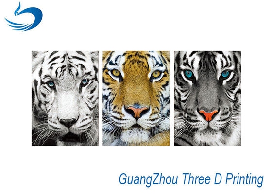 China Waterproof Three Way Flip Tiger 3D Lenticular Images Eco - Friendly supplier