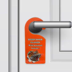 China Door Hanger 3D PET Lenticular Printing For Hotel / Home Decoration supplier