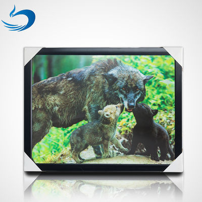 China Custom Bear Design 3D Lenticular Picture , 3D Flip Picture Decration supplier