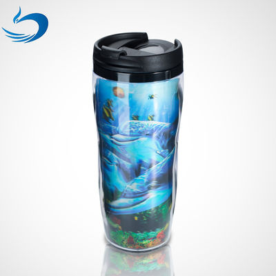 China Promotional Custom Printing Plastic Cartoon Lenticular 3d Cup 300ml-1500ml Capacity supplier