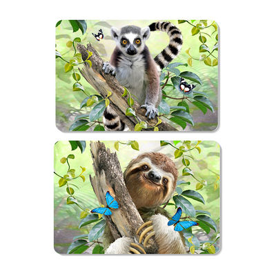 Animal 3D Lenticular Plastic Placemat For Promotion 28 * 38cm