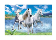 China Runnig Horse 3D Lenticular Pictures For House Decorative 0.6mmPET factory