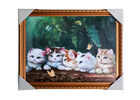 China Love Cat Image Lenticular 3d Pictures Decoration Craft Modern PS Frame For House factory
