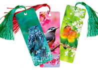 China Custom 0.6 mm PET 3D Lenticular Bookmark With Two Sides CMYK Printing company