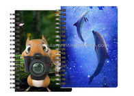 China Custom Animal Design 3D Lenticular Notebook For Kids Cute Souvenir Gift Stationery company