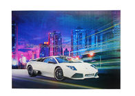 China Car Poster  Lenticular 3d Effect Poster PET CMYK Offset Printing factory