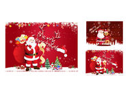 China 12 x 17cm 2 Images 3d Lenticular Photo Merry Christmas Greeting Card For Gift factory