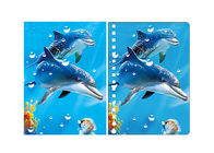 China Penguin & Dolphin Image A6 3D Lenticular Cover 0.45 - 0.6mm Thickness company