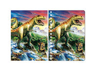 China Amazing Dinosaur 3D Lenticular Spiral Notebook Cover Eco - Friendly company