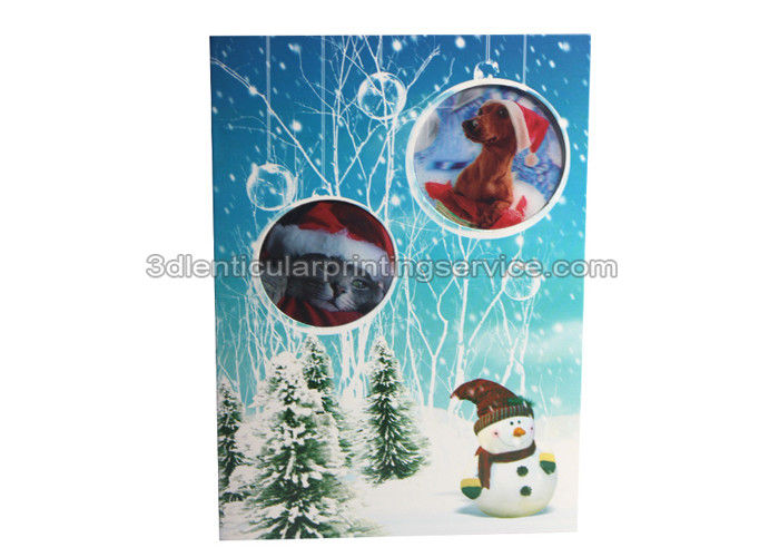 Lenticular custom 3d stickers with offset printing for greeting card m4hsunfo