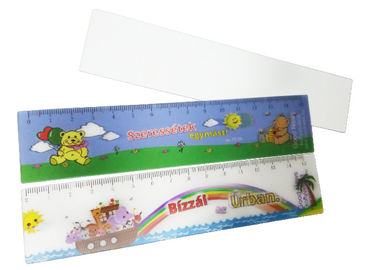 China Durable Custom Lenticular Printing / Catoon 3d Lenticular Ruler For Kids factory