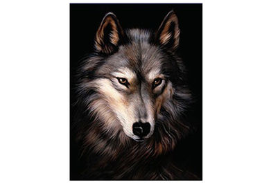PET/PP Material Printing Lenticular 3d Wolf Picture For Gift Large Size
