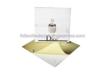 3D Moving Dior Sticker For Box 3D Lenticular Stickers Custom PET Printing Durable